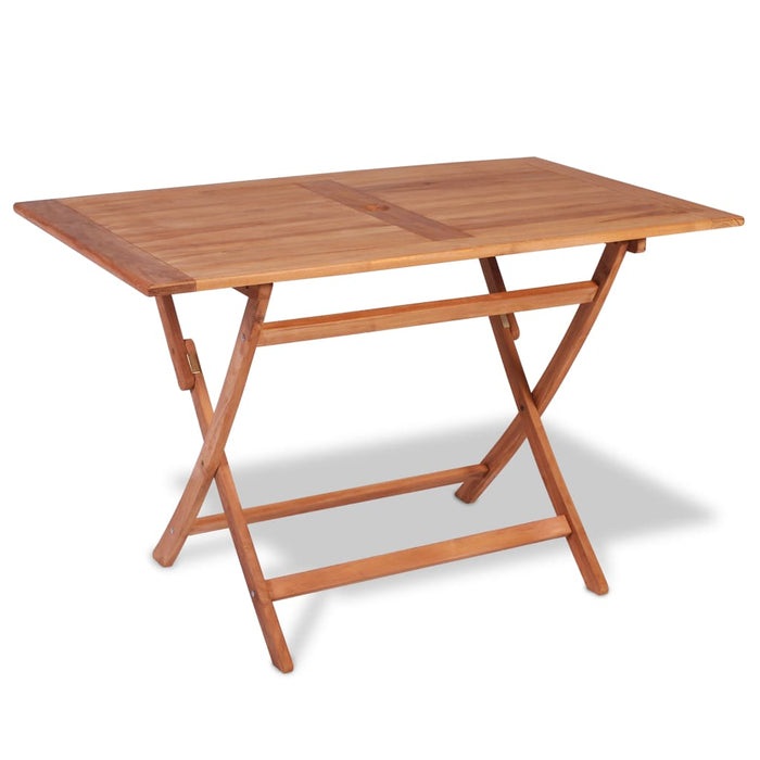 Folding Garden Dining Table 120x70x75 cm Teak Wood