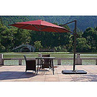 Outdoor Patio 4-Piece Cantilever Offset 3M Umbrella Base Stand Weight Water Sand