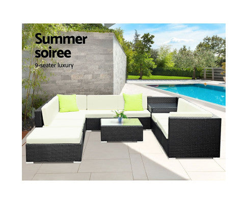 11 Pc garden sofa set w/ storage