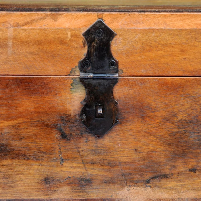 Reclaimed wood storage box lock