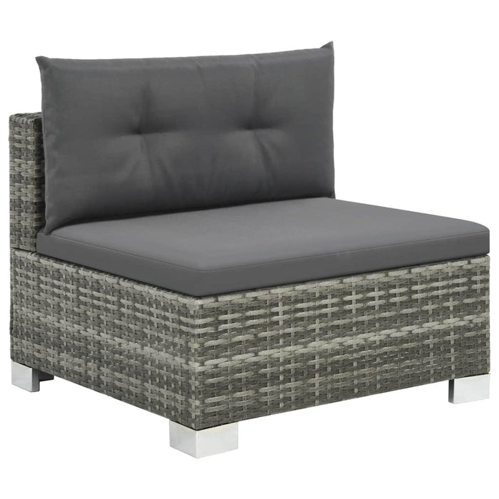 Outdoor chair w/ padded grey cushion