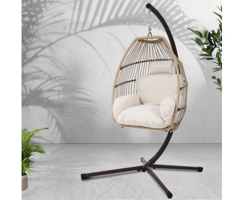 Outdoor Egg Hammock Swing Rattan Chair