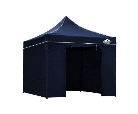 Gazebo Pop Up Marquee 3x3m Folding Wedding Tent Gazebos Shade Navy