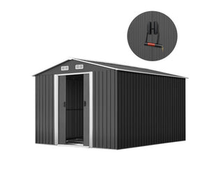 Garden Shed Workshop Shelter Metal Tool 2.6x3.9x2M, Garden Shed Storage