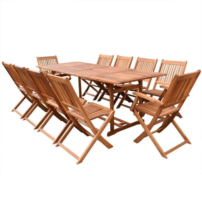 Outdoor Furniture, Best Selling Garden Furniture Set, vidaXL 11 Piece Outdoor Dining Set Solid Acacia Wood