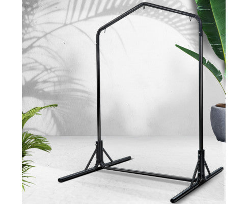 Double Hammock Chair Stand Steel Frame 2 Person Outdoor Heavy Duty 200kg Capacity
