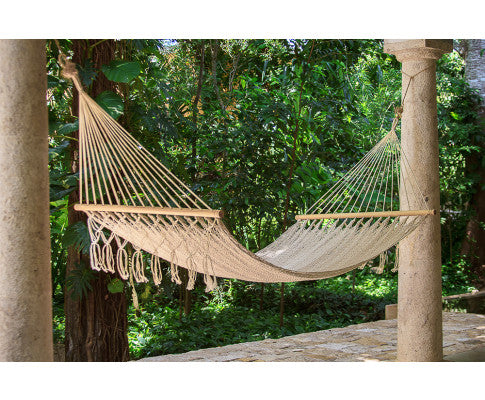 Resort No fringe Queen Size Cream, Hammock Swing