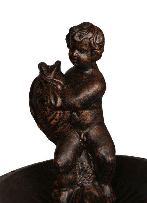 Boy with Fish Fountain Cast Iron