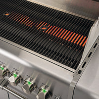 Crossray 2 burner stainless Steel BBQ grill plates