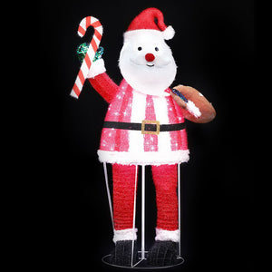 Jingle Jollys Christmas Motif Lights Santa Foldable 120 LED Outdoor Decoration