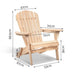 Dimensions of the Wooden Adirondack Chair