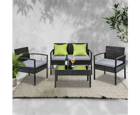 Garden Furniture Set with Cushions