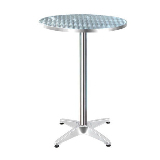 Gardeon Outdoor Bar Table Indoor Furniture Adjustable Aluminium Round 70/110cm