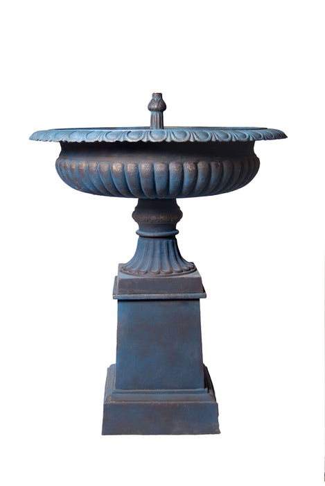 Toulouse Fountain Self Contained Blue Bronze