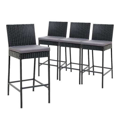 Gardeon Outdoor Bar Stools Dining Chairs Rattan Furniture X4