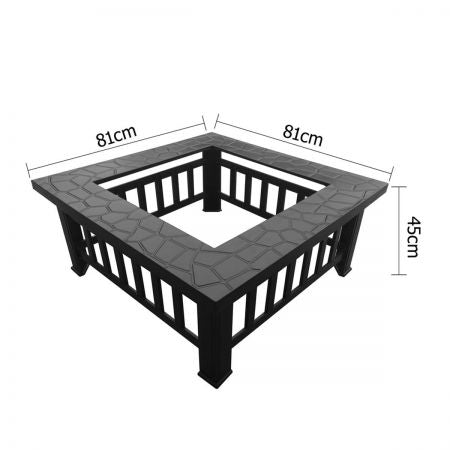 Outdoor Firepit frame with measurements
