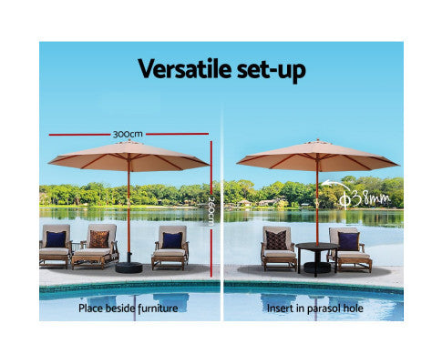 Outdoor Umbrella Suitable For Diifferent Set Up