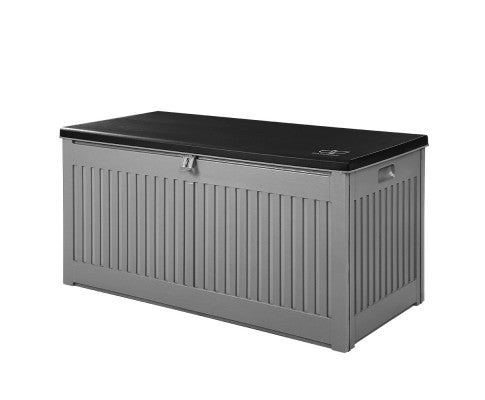Outdoor Storage Box Container Garden Toy Tool Chest Sheds Gardeon 270L Dark Grey