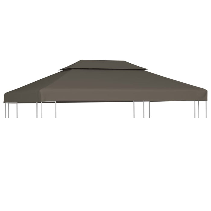 2Tier Gazebo Top Cover 310 g/m² 4x3 m Taupe