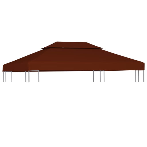 2 Tier Gazebo Top Cover 310 g/m² 4x3 m Terracotta, Tent, Garden Gazebo