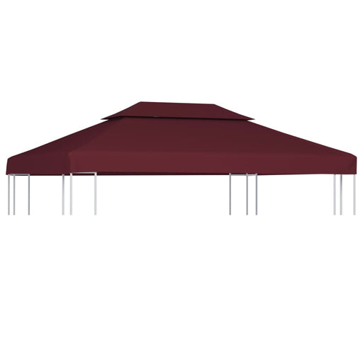 2Tier Gazebo Top Cover 310 g/m² 4x3 m Bordeaux