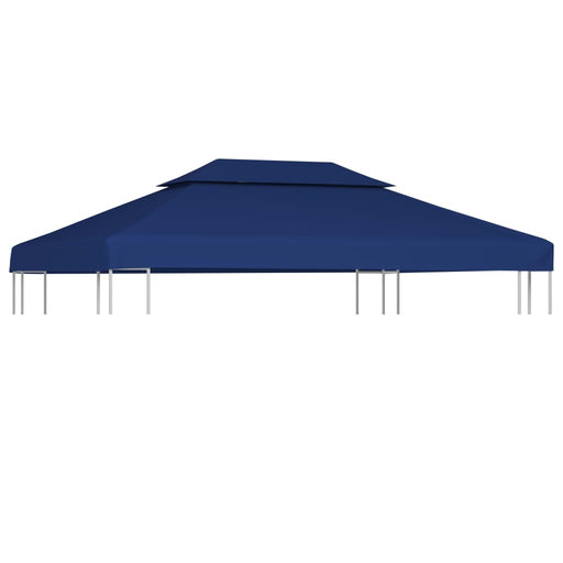 2 Tier Gazebo Top Cover 310 g/m² 4x3 m Blue, Tent, Garden Gazebo