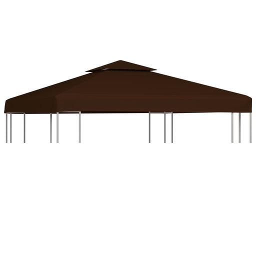 2Tier Gazebo Top Cover 310 g/m² 3x3 m Brown