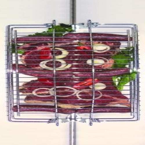 Spit Grill Basket with 4 Adjustable Positions