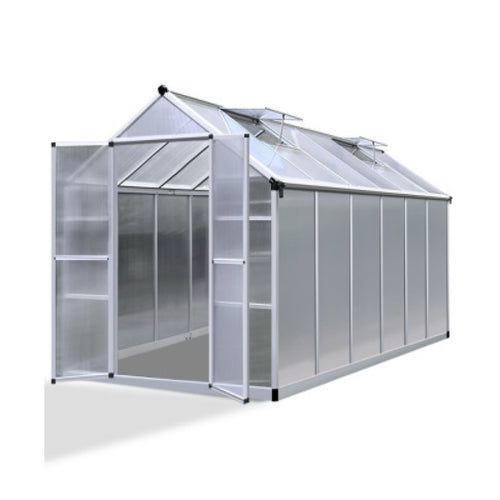 Greenfingers Greenhouse Aluminium Green House Garden Shed Greenhouses 3.7x2.5M, Greenhouse