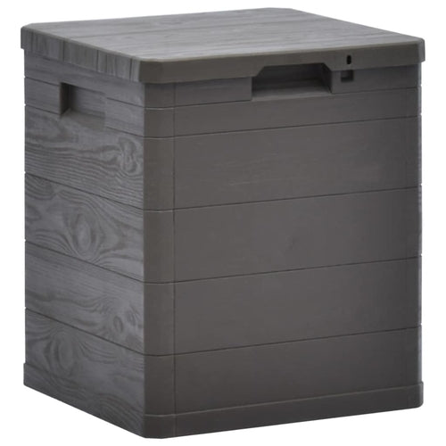Garden Storage Box 90 L Brown, Outdoor Storage Box