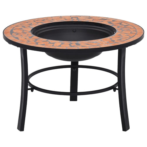 Mosaic Fire Pit Terracotta 68cm Ceramic