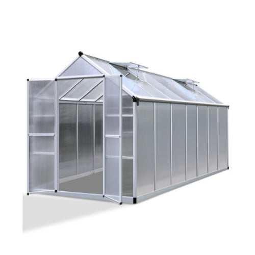 Greenfingers Greenhouse Aluminium Green House Garden Shed Greenhouses 4.1x2.5M, Greenhouse
