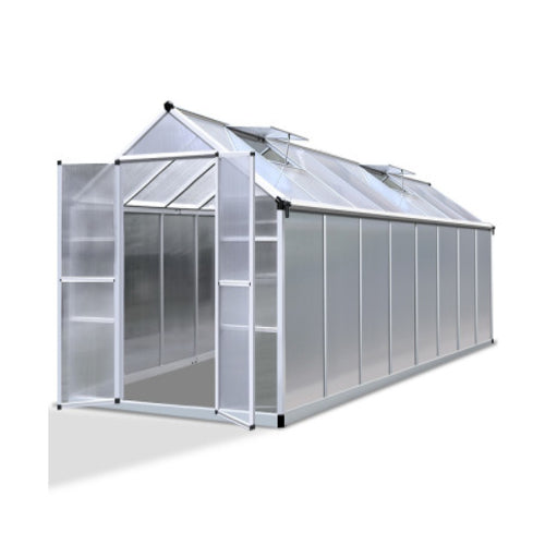 Greenfingers Greenhouse Aluminium Green House Garden Shed Greenhouses 4.7x2.5M, Greenhouse