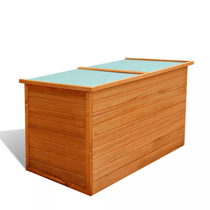 Garden Storage Box 126x72x72 cm Wood