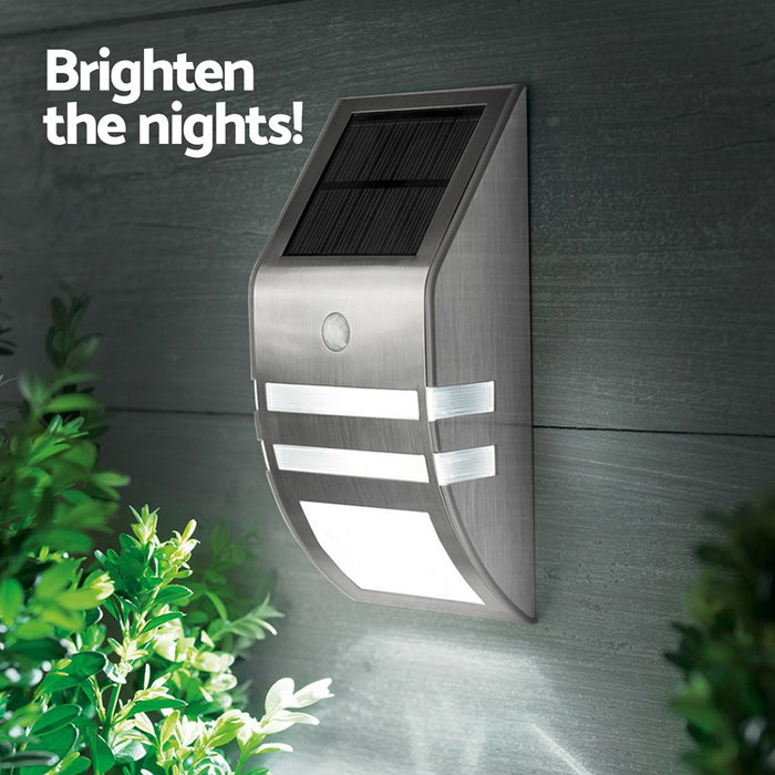 Set of 4 LED Solar Powered Sensor Light