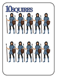 Game of Kingdoms Blue 10 Squires Card