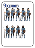 Game of Kingdoms Blue 9 Squires Card