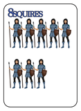 Game of Kingdoms Blue 8 Squires Card