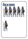 Game of Kingdoms Blue 6 Squires Card