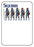 Game of Kingdoms Blue 5 Squires Card