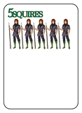 Game of Kingdoms Green 5 Squires Card