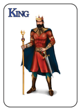 Game of Kingdoms Blue King Card