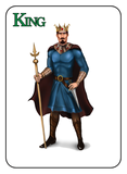 Game of Kingdoms Green King Card