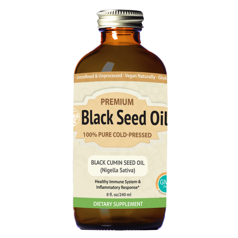 Premium Black Seed Oil (8 oz) | Immune System Support, Blood Sugar and Pressure Support