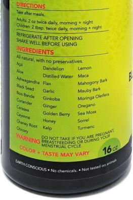 Black Seed Bitters with Moringa (16 oz)