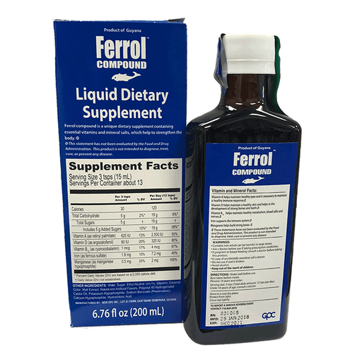 Ferrol Compound | Liquid multi-vitamin and iron tonic