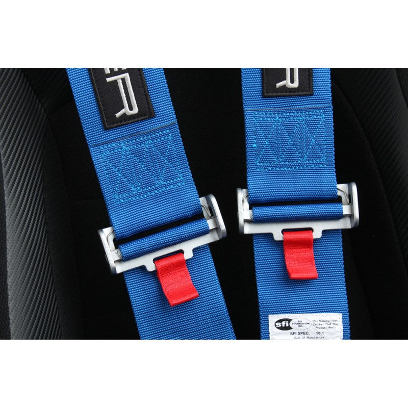Cipher Racing Harness 5 Point 3 Inch (Blue) Camlock Quick Release