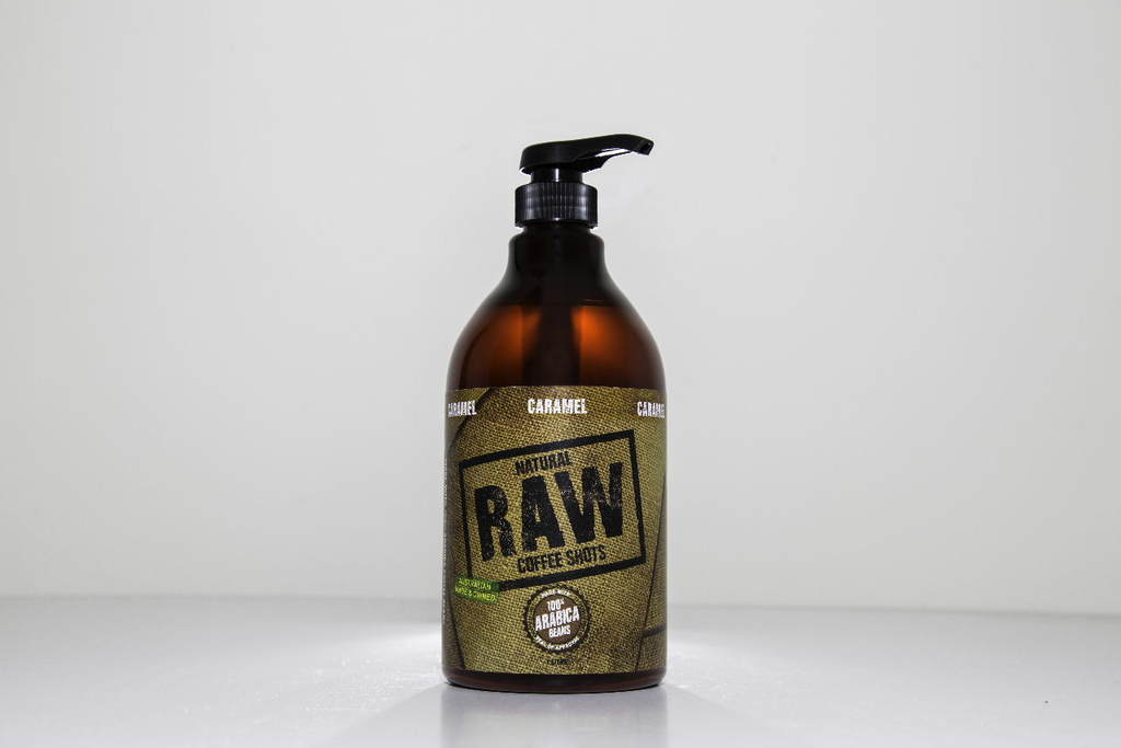 Natural Raw Coffee Shots Caramel 1L