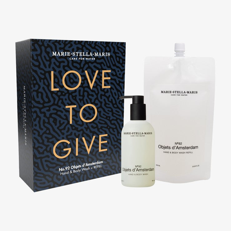 Love to Give Set Objets d'Amsterdam - Limited Edition Hand & Body Wash + Refill