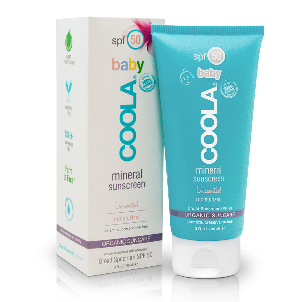 Mineral Sunscreen Baby Organic SPF 50 Unscented 90ml